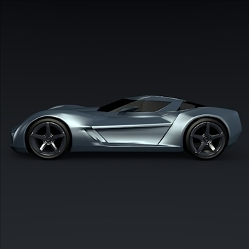 corvette stingray concept 3d model 3ds max fbx blend 106692