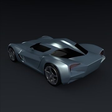 corvette stingray concept 3d model 3ds max fbx blend 106693