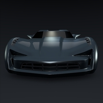 corvette stingray concept 3d model 3ds max fbx blend 106694