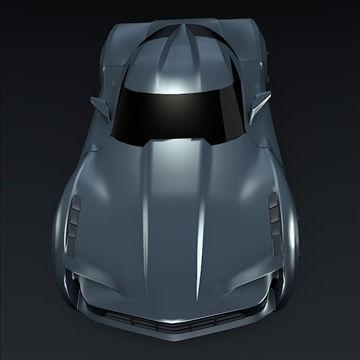 corvette stingray concept 3d model 3ds max fbx blend 106695