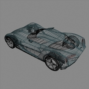 corvette stingray concept 3d model 3ds max fbx blend 106697