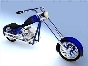 sepeda motor chopper custom model 3d maks 84114