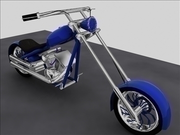 custom chopper motorcycle 3d model max 84115