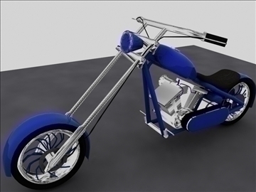 custom chopper motorcycle 3d model max 84116