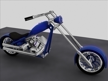 custom chopper motorcycle 3d model max 84117