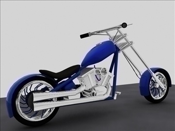 custom chopper motorcycle 3d model max 84118