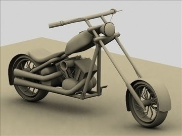 custom chopper motorcycle 3d model max 84119