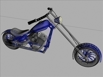 custom chopper motorcycle 3d model max 84120
