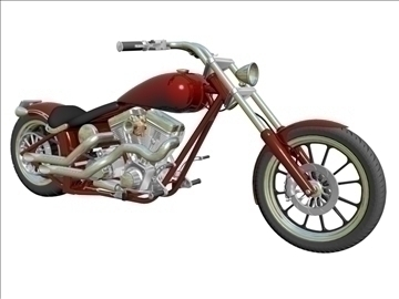 custom motorcycle 3d model 3ds dxf 110917