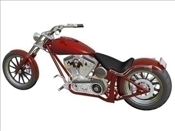 prilagođeni motocikl 3d model 3ds dxf 110918