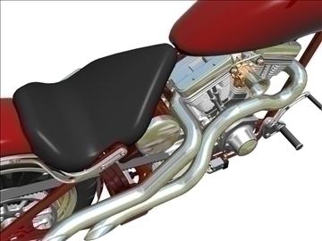 prilagođeni motocikl 3d model 3ds dxf 110921