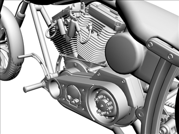 prilagođeni motocikl 3d model 3ds dxf 110922