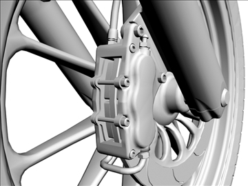 prilagođeni motocikl 3d model 3ds dxf 110923