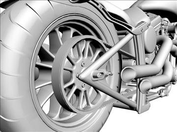prilagođeni motocikl 3d model 3ds dxf 110924