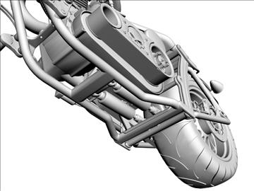 prilagođeni motocikl 3d model 3ds dxf 110925