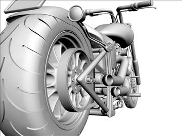 prilagođeni motocikl 3d model 3ds dxf 110926