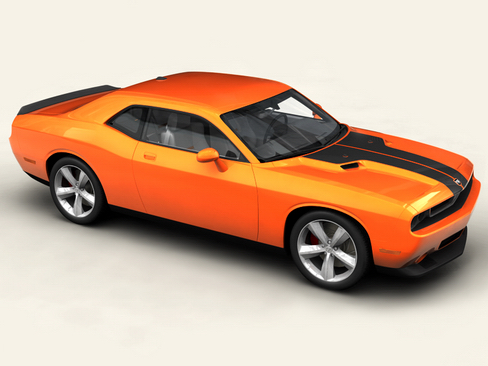 dodge challenger 2009 3d model 3ds max obj 114415