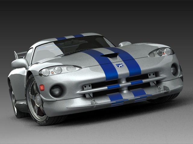 dodge viper gts 3d model 3ds max fbx obj 124446
