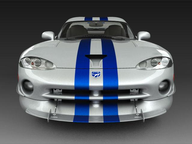 Dodge viper gts model 3d 3ds max fbx obj 124448