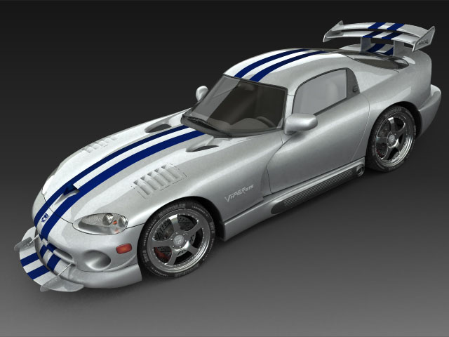 Dodge viper gts model 3d 3ds max fbx obj 124449