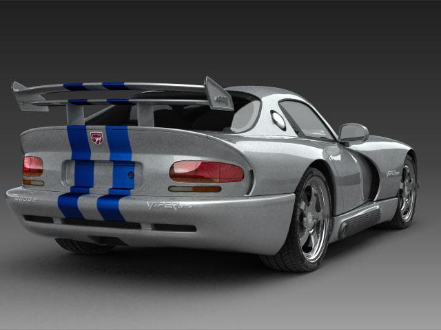 Dodge viper gts model 3d 3ds max fbx obj 124450