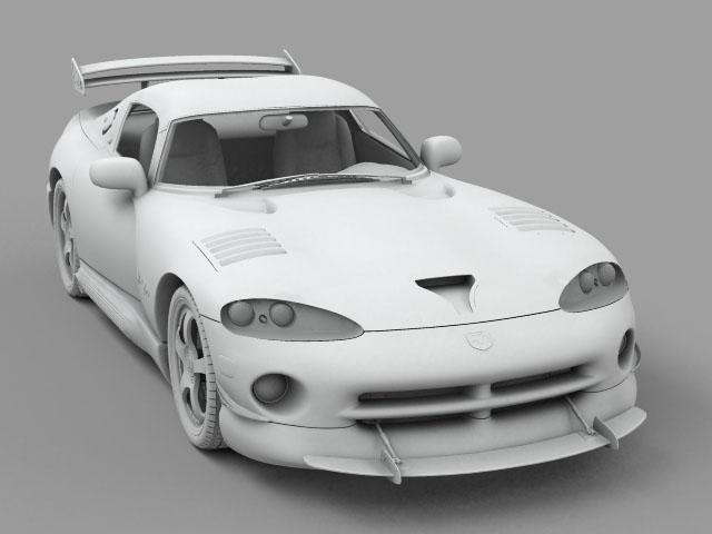 Dodge viper gts model 3d 3ds max fbx obj 124451