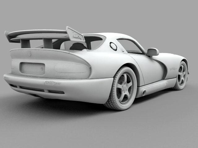 Dodge viper gts model 3d 3ds max fbx obj 124452