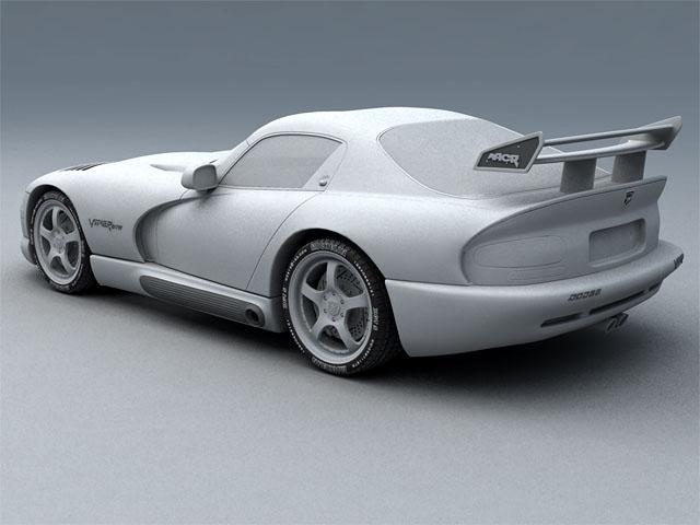 Dodge viper gts model 3d 3ds max fbx obj 124453