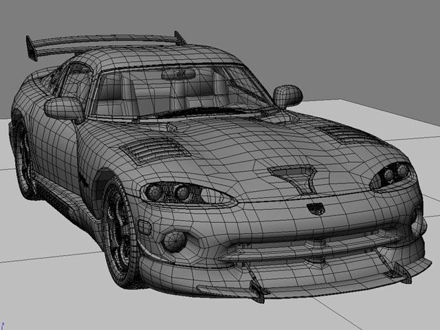 Dodge viper gts model 3d 3ds max fbx obj 124454