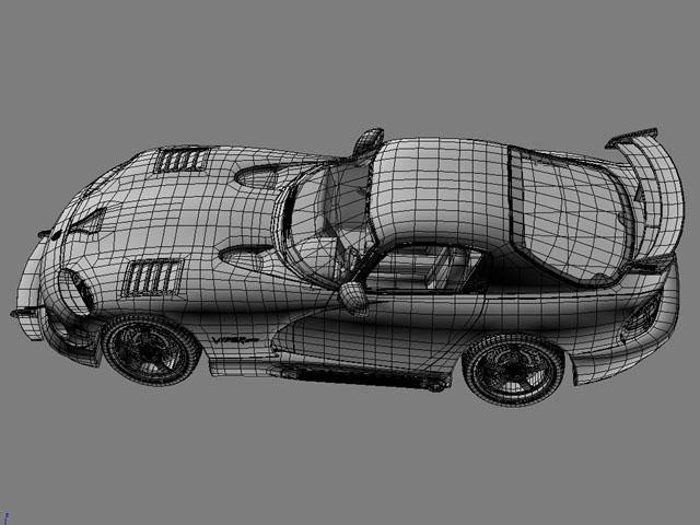 Dodge viper gts model 3d 3ds max fbx obj 124455