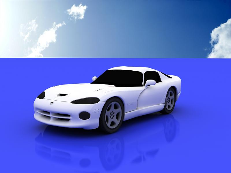 dodge viper gts coupe 3d model 3ds max dxf dwg fbx obj 120011