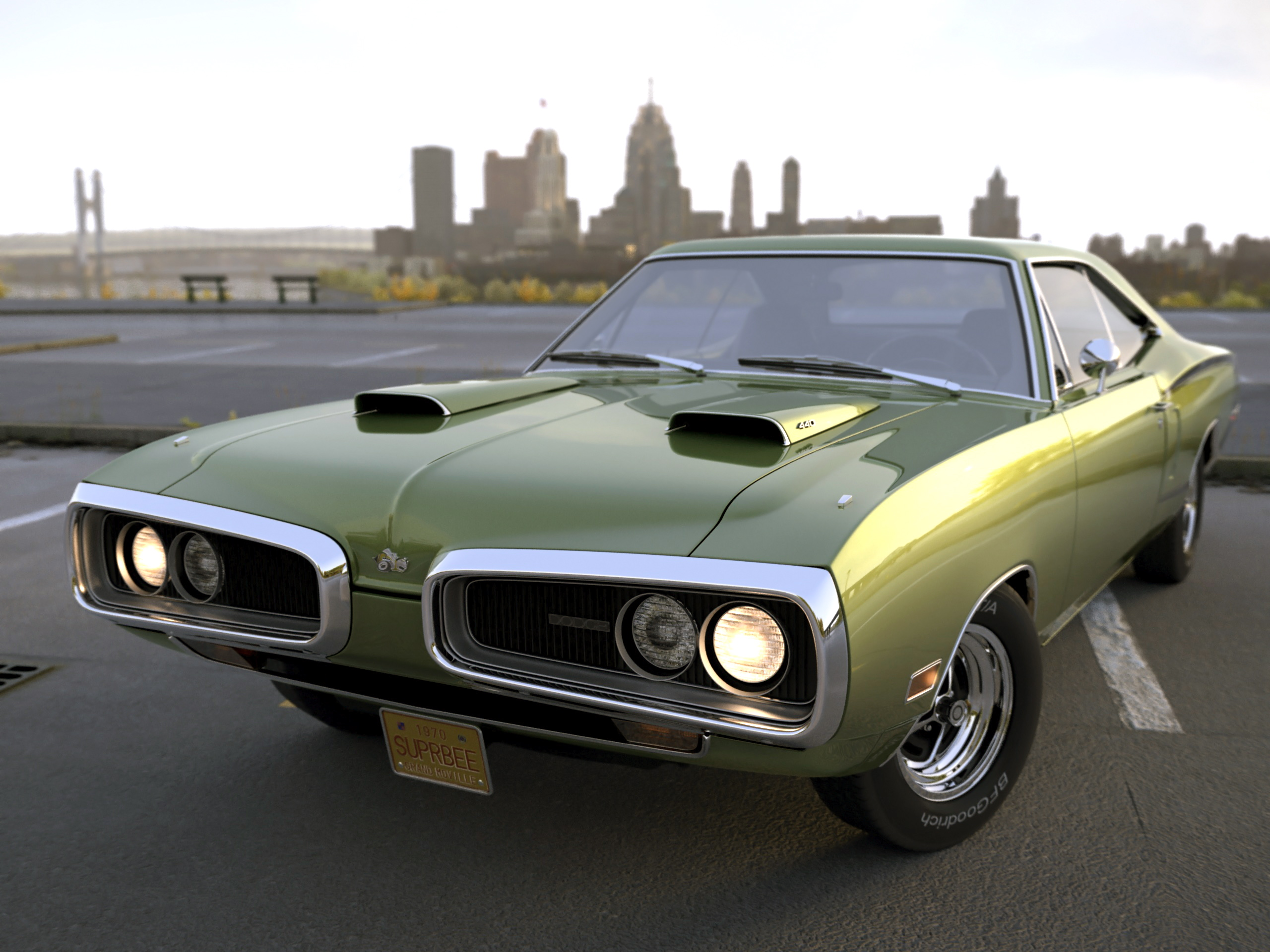 Dodge Coronet Super Bee 1970 3d Model 0