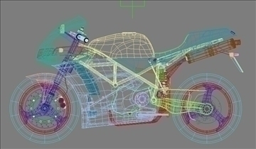 Ducati 916 ekkert efni 3d líkan 3ds max obj 81464