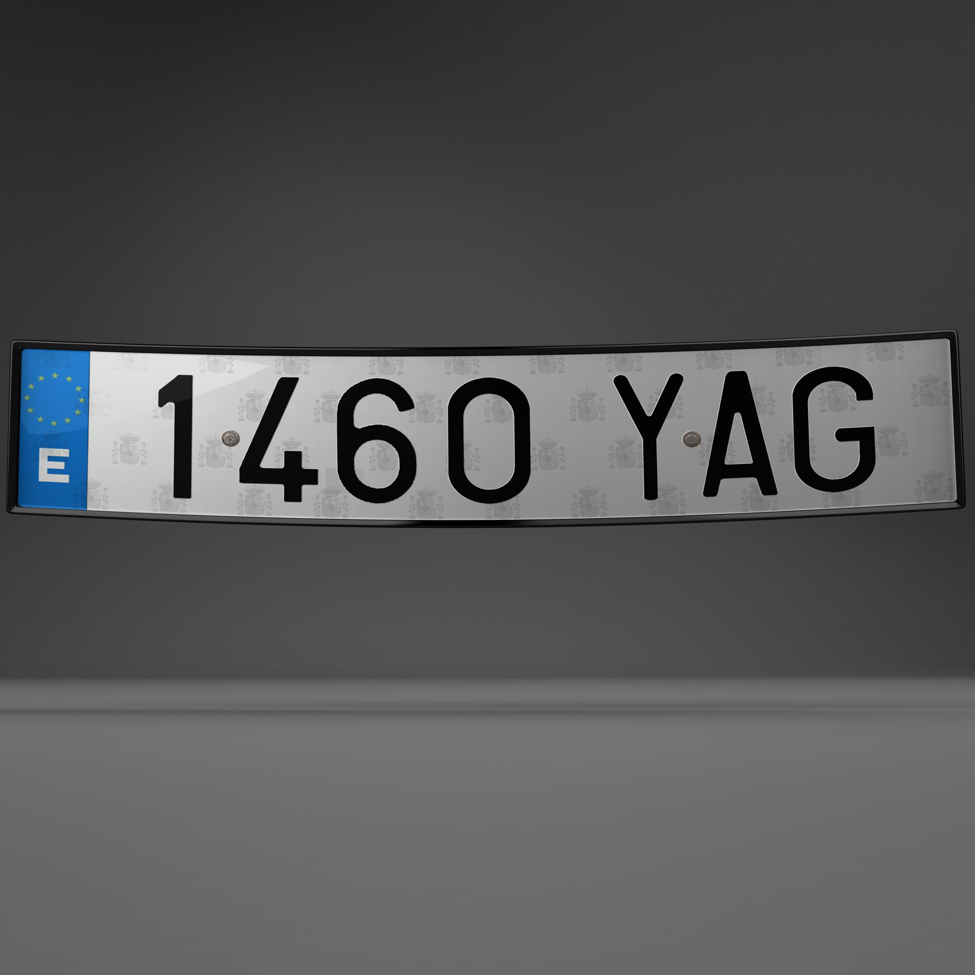 euro style license plate 3d model 3ds max fbx ma mb obj 157438