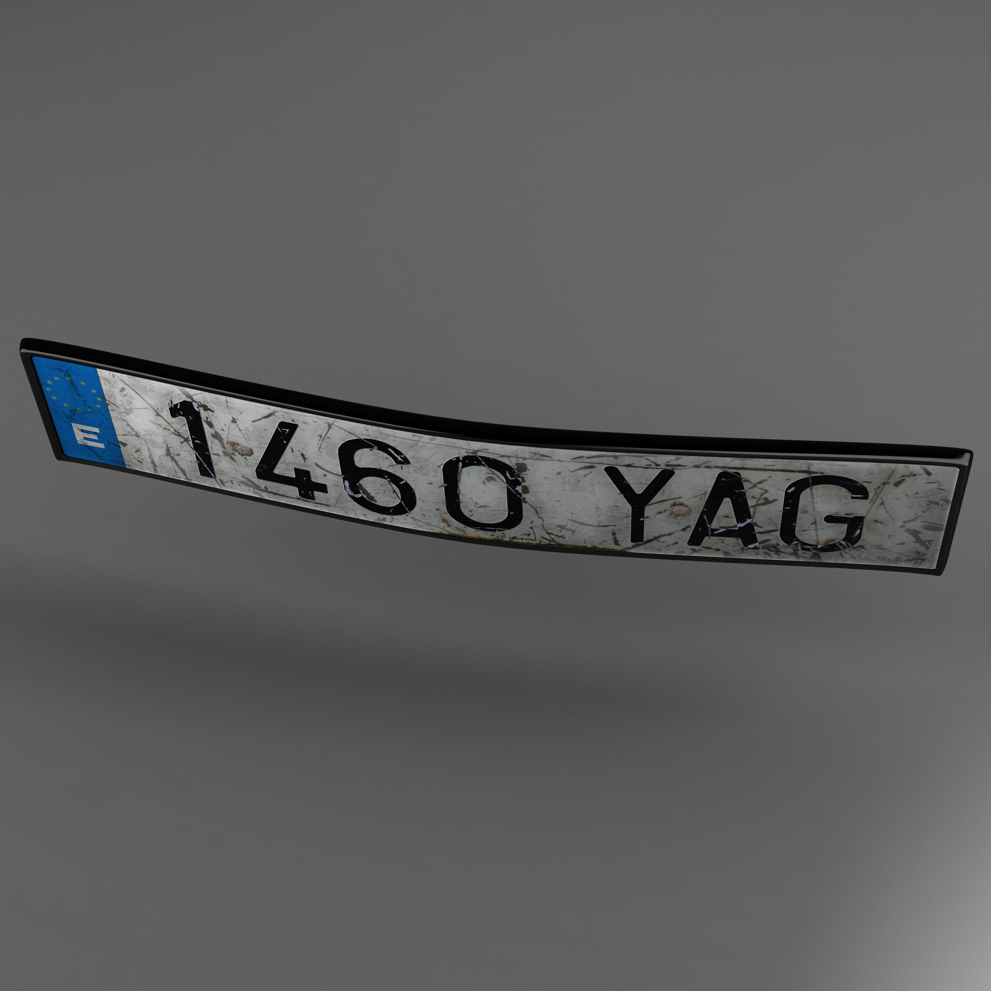 euro style license plate 3d model 3ds max fbx ma mb obj 157439