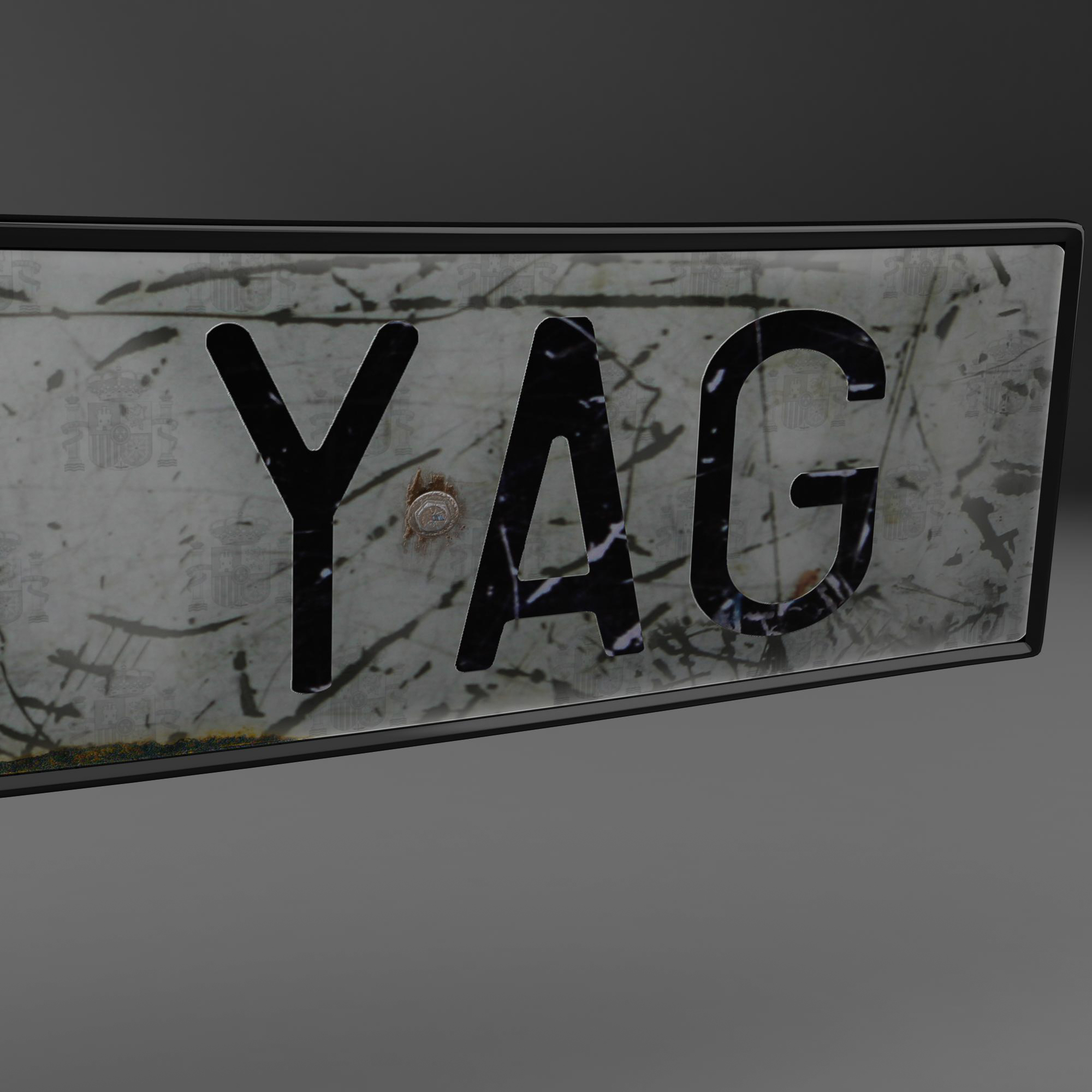 euro style license plate 3d model 3ds max fbx ma mb obj 157441