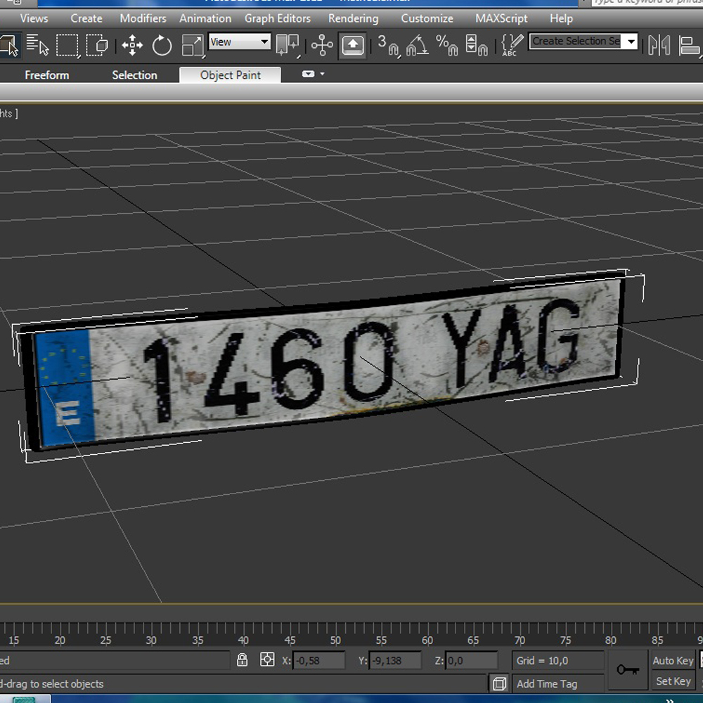 euro style license plate 3d model 3ds max fbx ma mb obj 157448