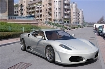f 430 white sport car 2008 3d model 3ds max fbx obj 95877