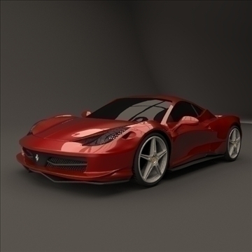 ferrari 458 restyled 3d model 3ds fbx blend lwo obj 108552