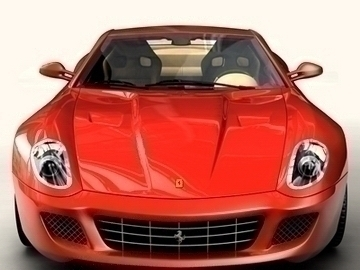 Ferrari 599 GTB Fiorano 3d líkan 3ds max obj 81700
