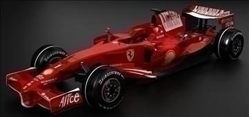 ferrari f2008 model 3d max 91401