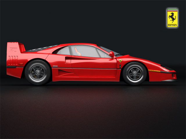 ferrari f40 3d model 3ds max fbx obj 124523