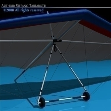 hang glider 3d model 3ds dxf fbx c4d dae obj 87725
