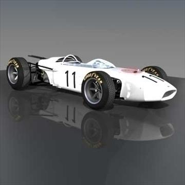 honda ra272 grand prixf1 vintage sacīkšu automašīna 3d modelis lwo 82345