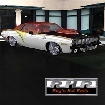 hot rod barracuda 3d model lwo 82061
