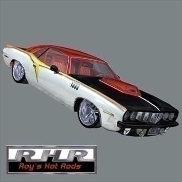 hot rod barracuda 3d model lwo 82063