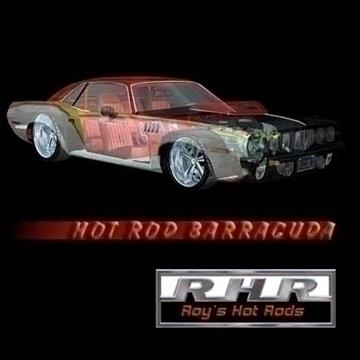 hot rod barracuda 3d model lwo 82068
