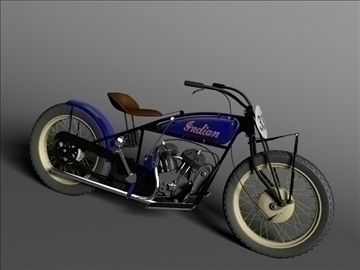 indian flat track racer 1930 3d model 3ds max c4d obj 106398