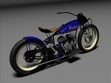 indian flat track racer 1930 3d model 3ds max c4d obj 106401