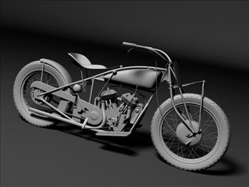 indian flat track racer 1930 3d model 3ds max c4d obj 106404